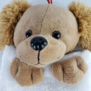 Plush Brown Dog Head Christmas Stocking Puppy 20""